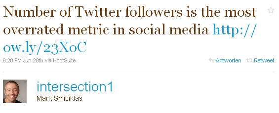 Twitter Follower Overrated
