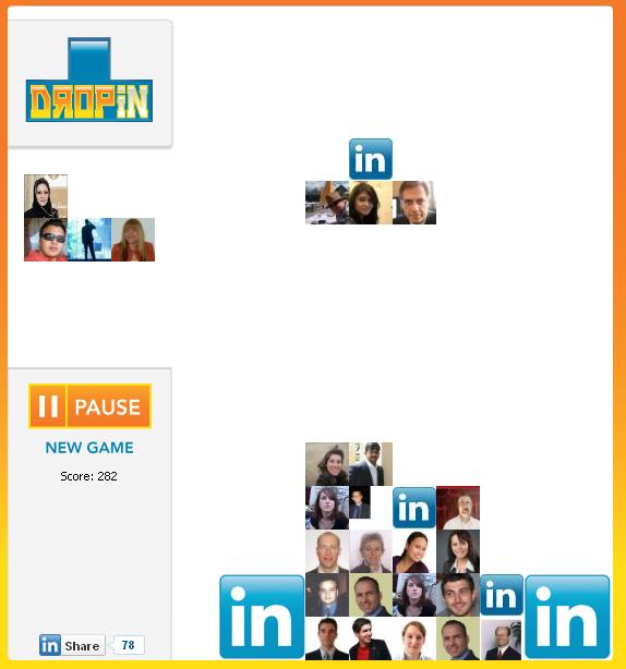 DropIn Tetris LinkedIn