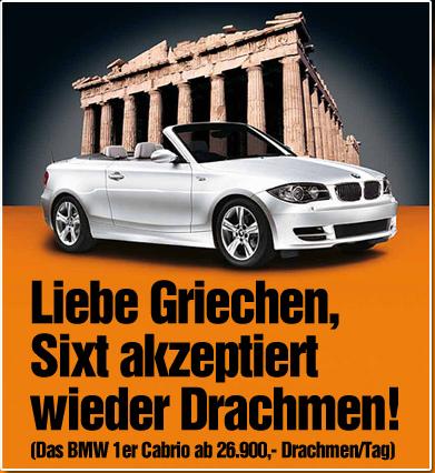 Werbekampagne von Sixt Griechenland