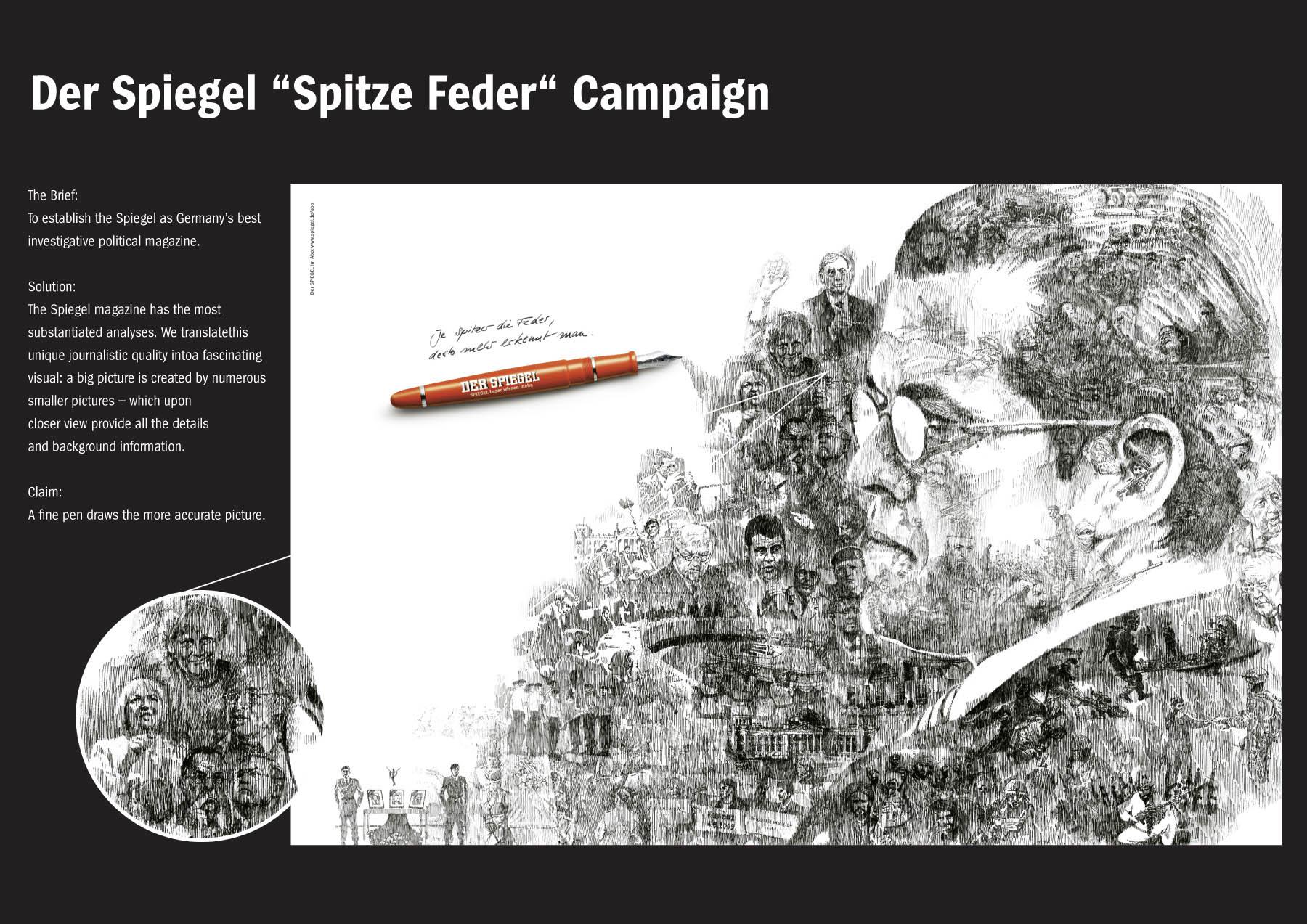 Spiegel Spitze Feder Kampagne