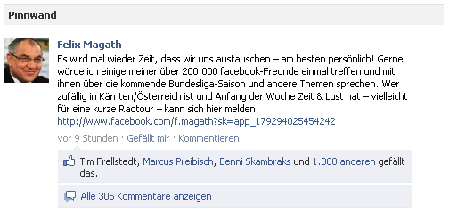 Magath Facebook Party Einladung