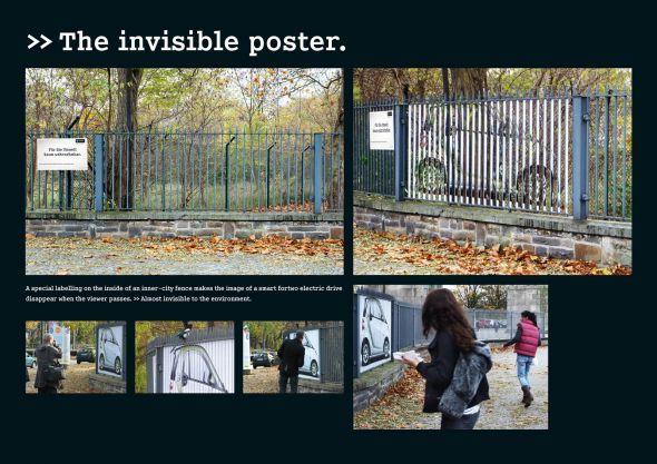 Unsichtbares Plakat Winkel Smart