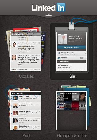 Linkedin iphone app menu