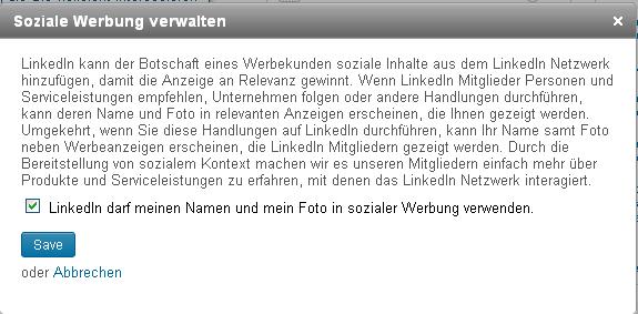 LinkedIn Social Ads Opt in