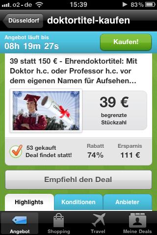 Doktortitel Kaufen Groupon