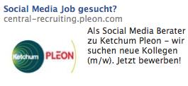 Ketchum Pleon Facebook Ad