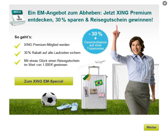 Werbung Xing Premium Mitgliedschaft