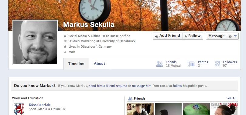 Neue Profilansicht bei Facebook