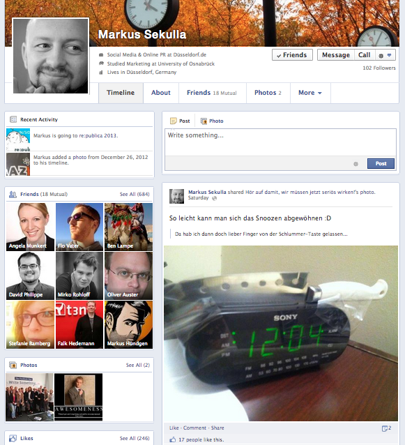 Neues Facebook Timeline Design 1
