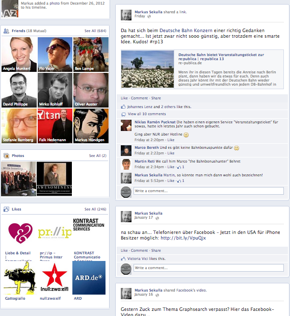 Neues Facebook Timeline Design 3