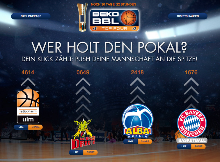 Beko BBL Final Four Social Media Kampagne