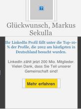 LinkedIn Top 10 Prozent der besuchten Profile