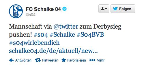 Schalke 04 Twitter Aktion Derby