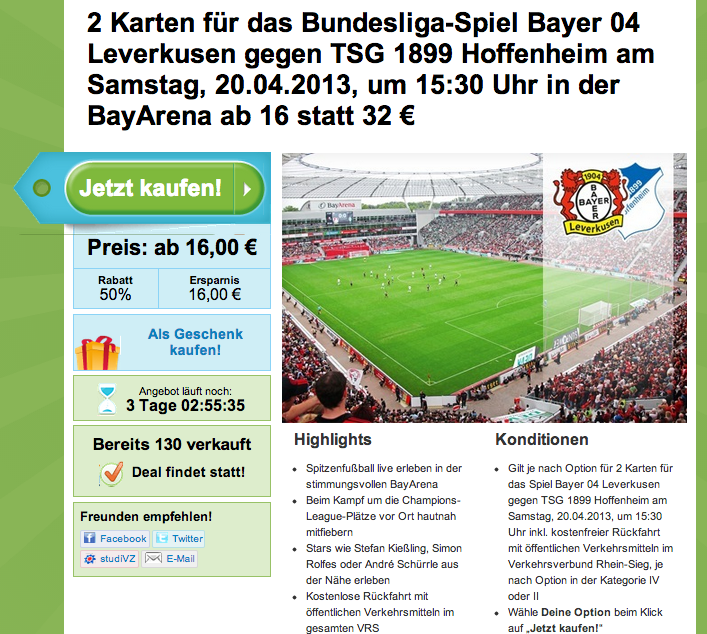 Groupon Tickets Bundesliga