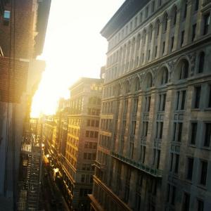 Blick aus dem Fenster AirBnB Union Square
