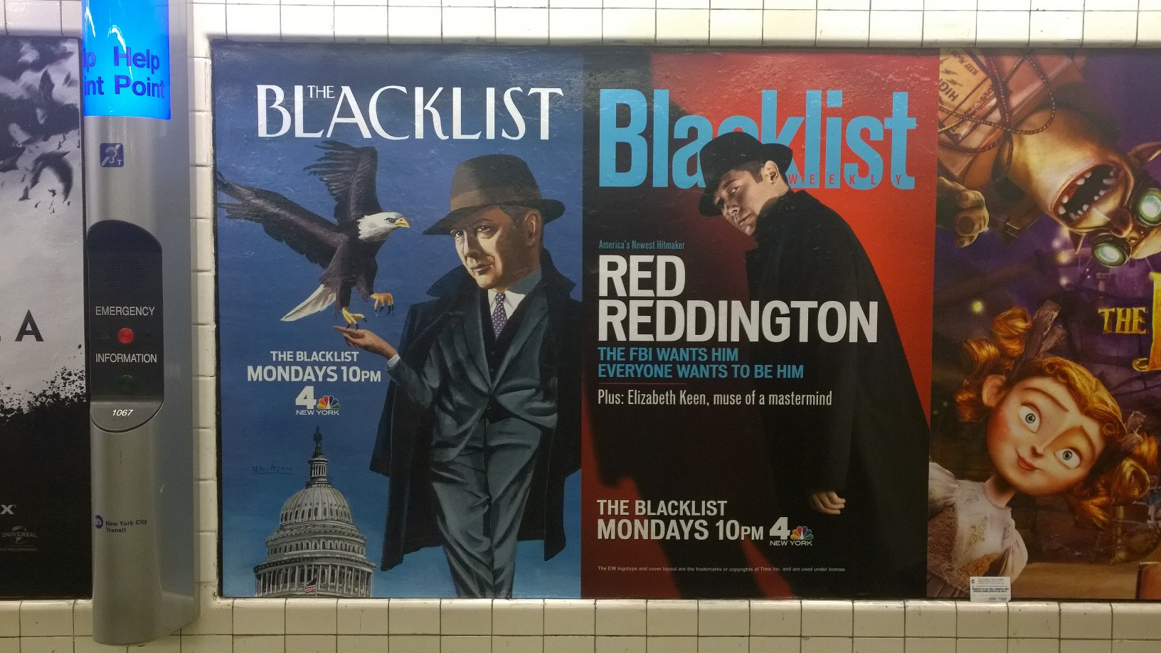 Blacklist Werbung The NewYorker und Entertainment Weekly