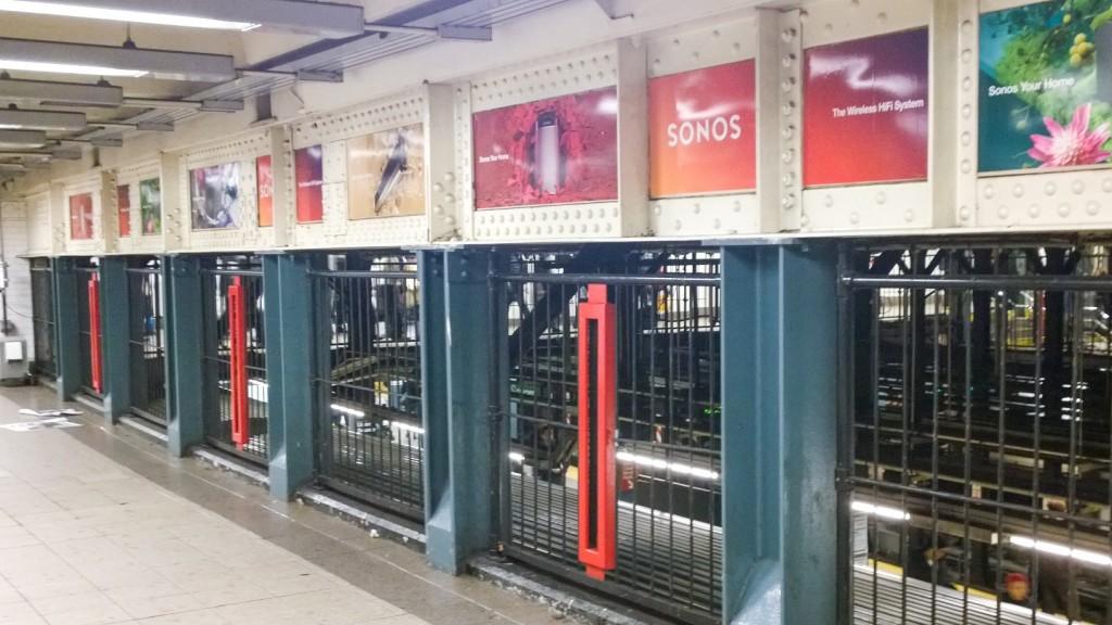 Überall ist Sonos Werbung am Union Square