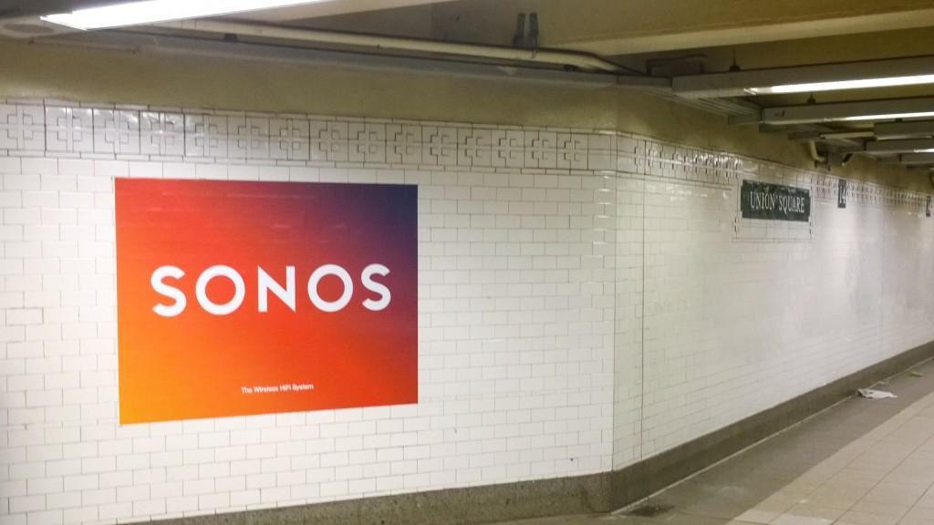Union Square Brand Werbung SONOS