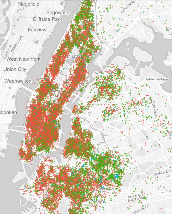 Airbnb in New York City Verfügbarkeit