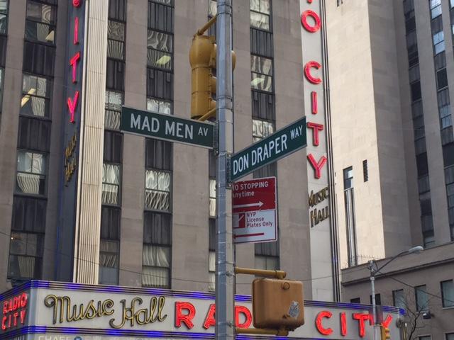 Mad Men Av und Don Draper Way Marketing NYC