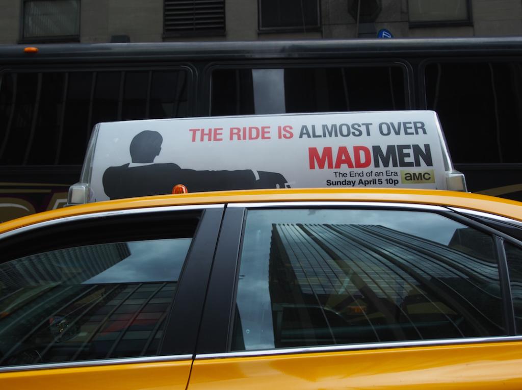 Taxi Werbung Mad Men