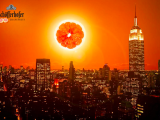 Manhattanhenge Advertising NYC Schofferhofer Grapefruit