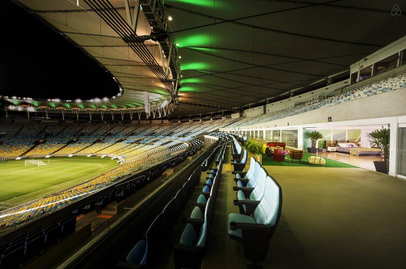 VIP Suite im Maracana Stadion in Rio de Janeiro mit Airbnb
