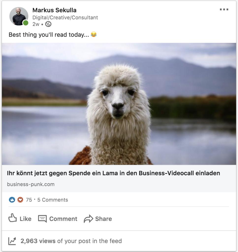 Views auf LinkedIn auf Posts sind höher als auf Artikeln. Warum ist das so. Hier die Antwort